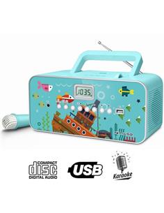 MUSE CD M-29 KB RADIO INFANTIL MICRÓFONO BLUE