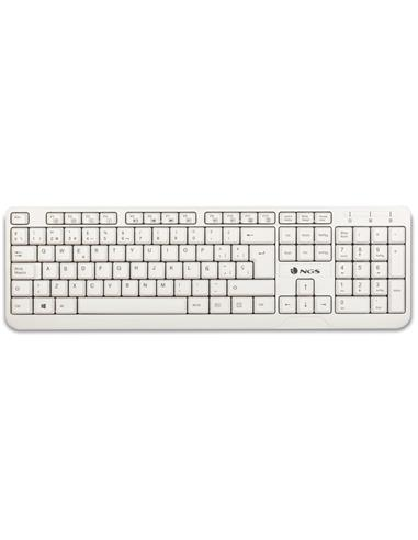 TECLADO NGS SPIKE CON CABLE BLANCO