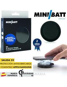 MINIBATT MB-M2 CARGADOR WIRELESS QI BLACK