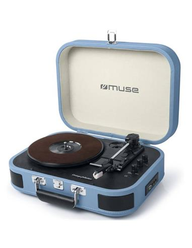 MUSE MT-201 BTB TOCADISCOS / BLUETOOTH / USB AZUL