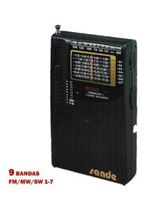 SANDE 109 SDR RADIO 9 BANDA AM/FM